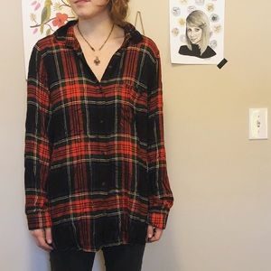 plaid old navy top